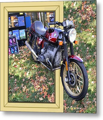 Big Bike Metal Print by Larry Bishop