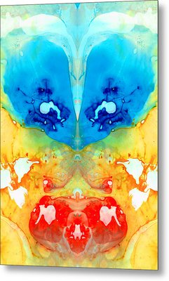Big Blue Love - Visionary Art By Sharon Cummings Metal Print by Sharon Cummings