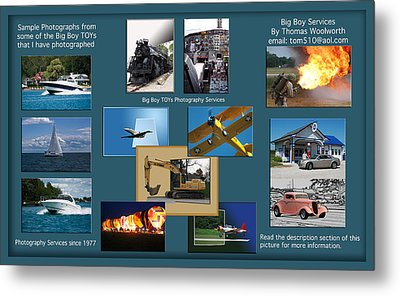 Big Boy Toys Photography Services Metal Print by Thomas Woolworth