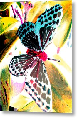 Metal Print featuring the digital art Big Butterfly by Nico Bielow