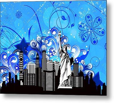 Big City Blues 4 Liberty Metal Print by Stanley Mathis