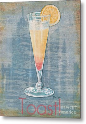 Big City Cocktails Champagne Metal Print