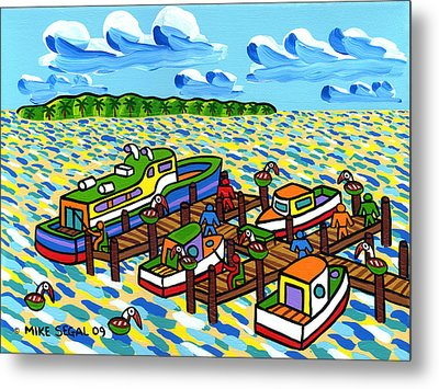 Big Dock - Cedar Key Metal Print by Mike Segal