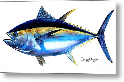 Big Eye Tuna Metal Print by Carey Chen