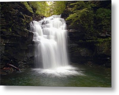 Big Falls In The Rain Metal Print