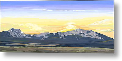 Big Hole Beaverhead Mountains Metal Print