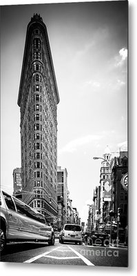 Big In The Big Apple - Bw Metal Print