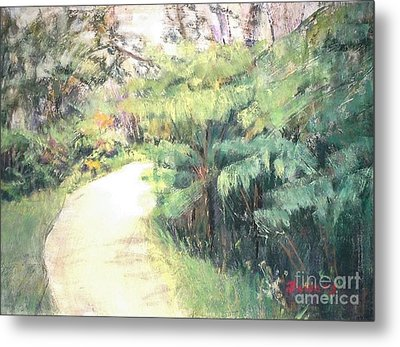 Big Island Pathway Metal Print by Mary Lynne Powers