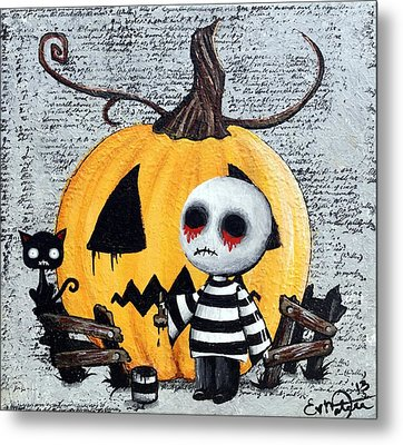 Big Juicy Tears Of Blood And Pain No. 11 The Great Pumpkin Metal Print by Oddball Art Co by Lizzy Love