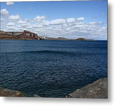 Metal Print featuring the photograph Big Lake Big Sky by Russell Smidt
