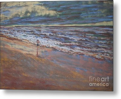 Metal Print featuring the painting Big Ocean  Little Boy by Suzanne McKay