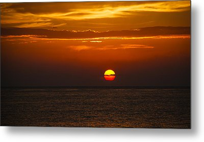 Metal Print featuring the photograph Big Orange Ball by Phil Abrams