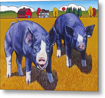 Big Pigs Metal Print