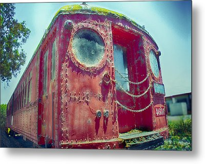 Big Red Car #4601 Metal Print by Joseph Hollingsworth