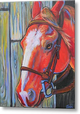 Big Red Metal Print by Jenn Cunningham