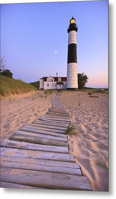 Big Sable Point Lighthouse Metal Print by Adam Romanowicz