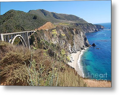Metal Print featuring the photograph Big Sur Bixby Bridge And Beach by Debra Thompson
