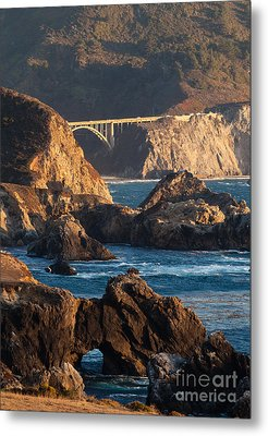 Big Sur Coastal Serenity Metal Print by Mike Reid