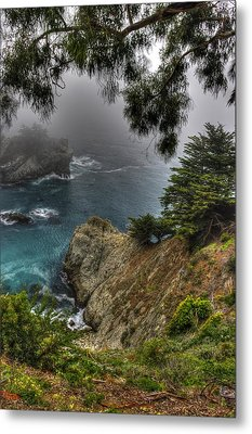 Big Sur Julia Pfeiffer State Park-1 Central California Coast Spring Early Afternoon Metal Print by Michael Mazaika