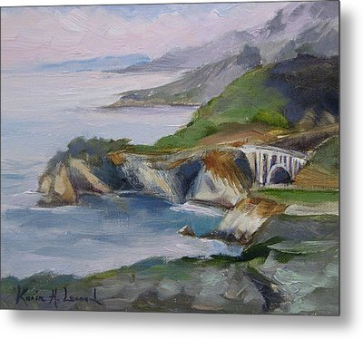Big Sur Sunset Metal Print by Karin  Leonard