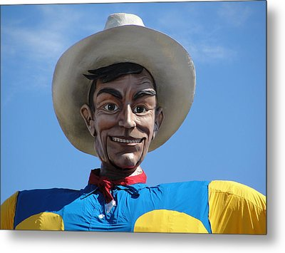Metal Print featuring the photograph Big Tex by Charlie and Norma Brock