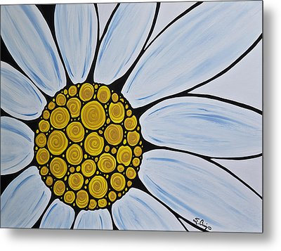 Big White Daisy Metal Print