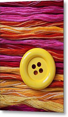 Big Yellow Button  Metal Print by Garry Gay