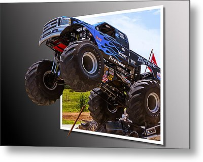 Bigfoot Out Of Frame Metal Print
