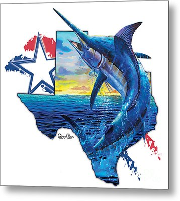 Bigger In Texas Metal Print