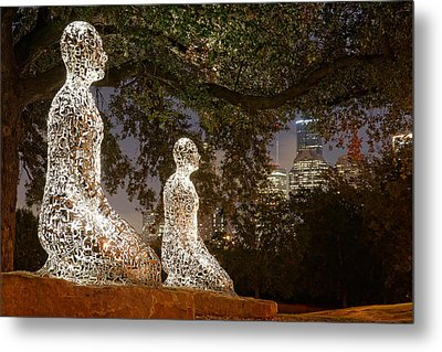 Bigger Than The Sum Of Our Parts - Tolerance Sculptures Downtown Houston Texas Metal Print