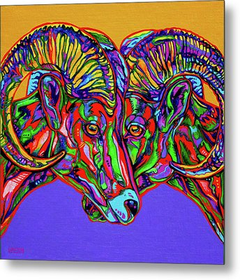 Bighorn Sheep Metal Print by Derrick Higgins