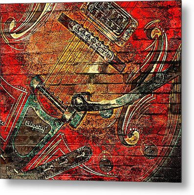 Bigsby Faux Mural Metal Print by Chris Berry