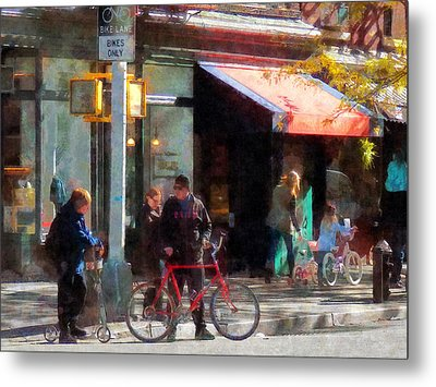Bike Lane Metal Print by Susan Savad