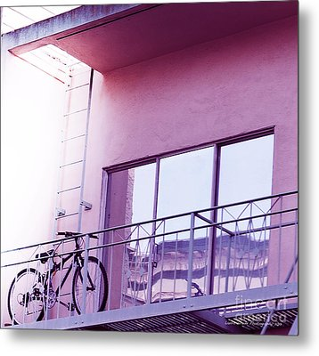 Bike On My Balcony Metal Print