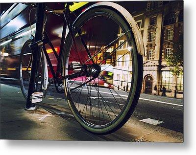 Bike On Whitehall  Metal Print