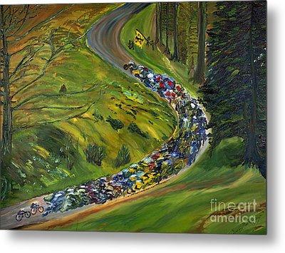 Bike Race Belgium Arden Spring Classics Metal Print by Gregory Allen Page