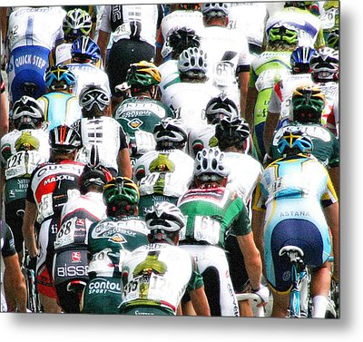 Metal Print featuring the photograph Bike Race Image by Christopher McKenzie