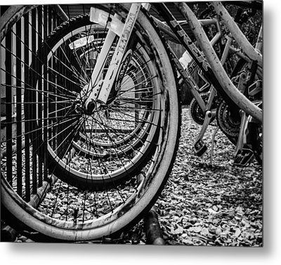 Bike Rack Metal Print by Steve Stanger