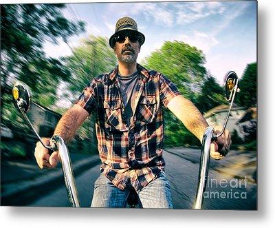 Bike Ride Metal Print by Mark Miller