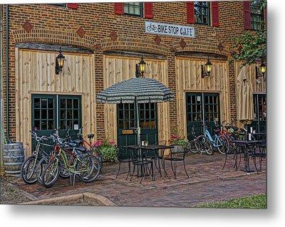Bike Shop Cafe Katty Trail St Charles Mo Dsc00860 Metal Print by Greg Kluempers