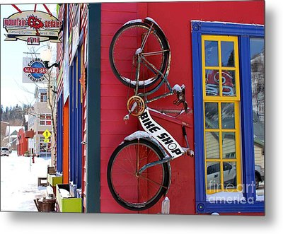 Bike Shop Metal Print by Fiona Kennard