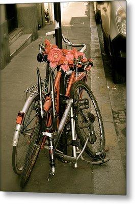 Bikes In Italy Metal Print by Teresa Tilley