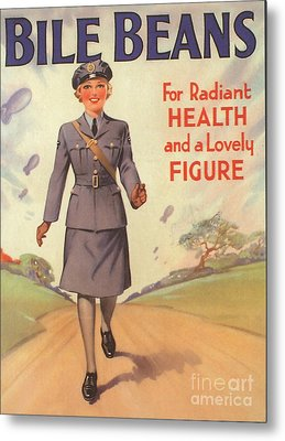 Bile Beans 1940s Uk Uniforms  Ww2 Metal Print by The Advertising Archives