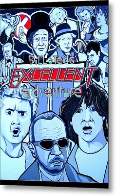 Bill And Teds Excellent Adventure Metal Print by Gary Niles