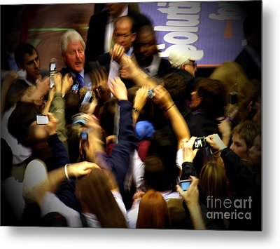 Bill Clinton At Muhlenberg College Metal Print by Jacqueline M Lewis