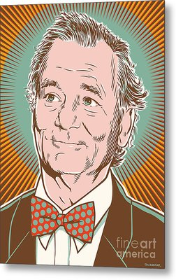 Bill Murray Pop Art Metal Print by Jim Zahniser