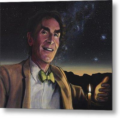 Bill Nye - A Candle In The Dark Metal Print by Simon Kregar