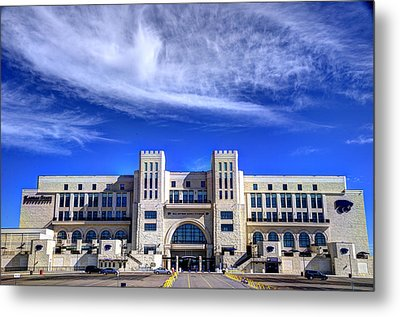 Bill Snyder Family Stadium Metal Print by Jean Hutchison
