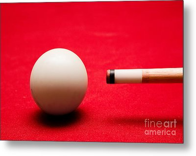 Billards Pool Game Metal Print by Michal Bednarek