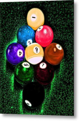 Billiards Art - Your Break Metal Print